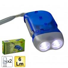 Ліхтарик динамо JBM (2LED / 6Lm) (51573)