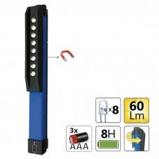 Ліхтарик з магнітною вставкою JBM (8LED/60Lm/3xAAA) (52582)