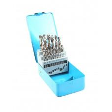 Набір свердел для металу HAZET (25 шт) (1-13 мм / крок 0,5 мм)  (2128-1)