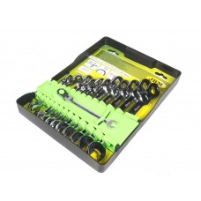 Набір ключів шарнірних комбінованих з трещеткой JBM (12 шт) (8-19 мм) (51318)