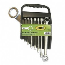 Набір ключів дванадцятигранних плоских-кільцевих JBM 8 шт (51878)