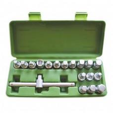 Набір насадок під пробки для спуску масла 18 предметів JBM (52008)