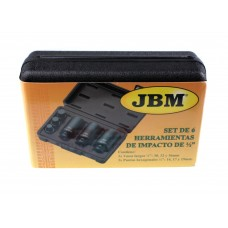 Набір біт JBM 3 шт шестигранных ударних 1/2 (52337)