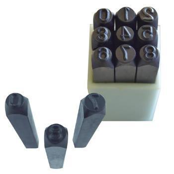 "Набір штампів сталевих  (числовых) JBM (9 шт) (1/4""-5mm) (52882)"