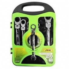 Набір ключів гнучких комбінованих трещеточний JBM 7 шт (53017)