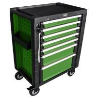 Тележка с инструментами на колесах JBM 180 предметов  (470x770x970) (зеленая) (53035)