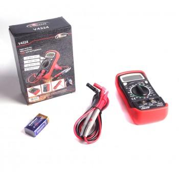 Цифровой мультиметр тестер вольтметр VIGOR (V4324)