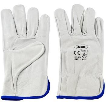 Защитные перчатки кожаные JBM М (52738)