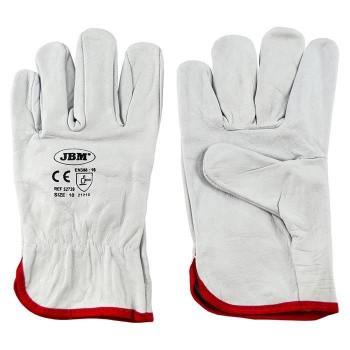 Защитные перчатки кожаные JBM L (52739)